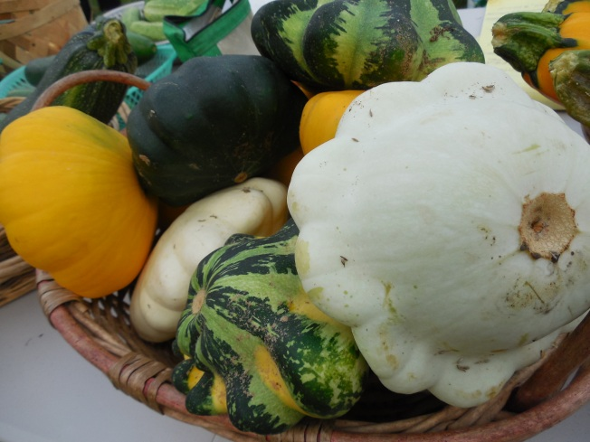 patty pan squash in a basket